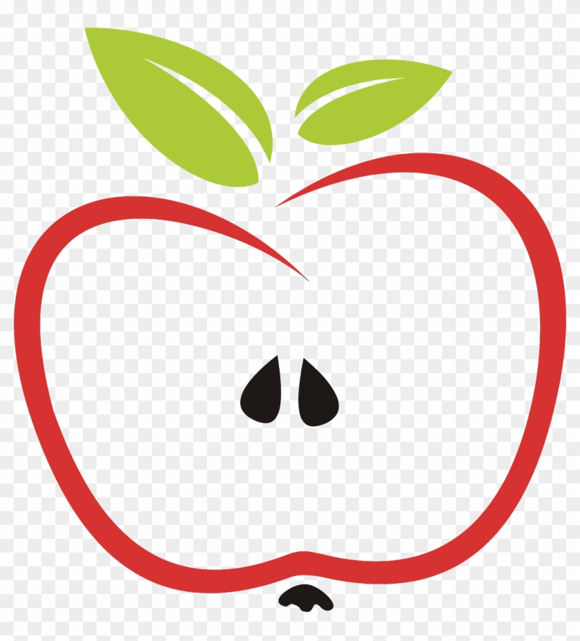Leaf Of Apple Clipart Clip Art - Stylized Apple #130859
