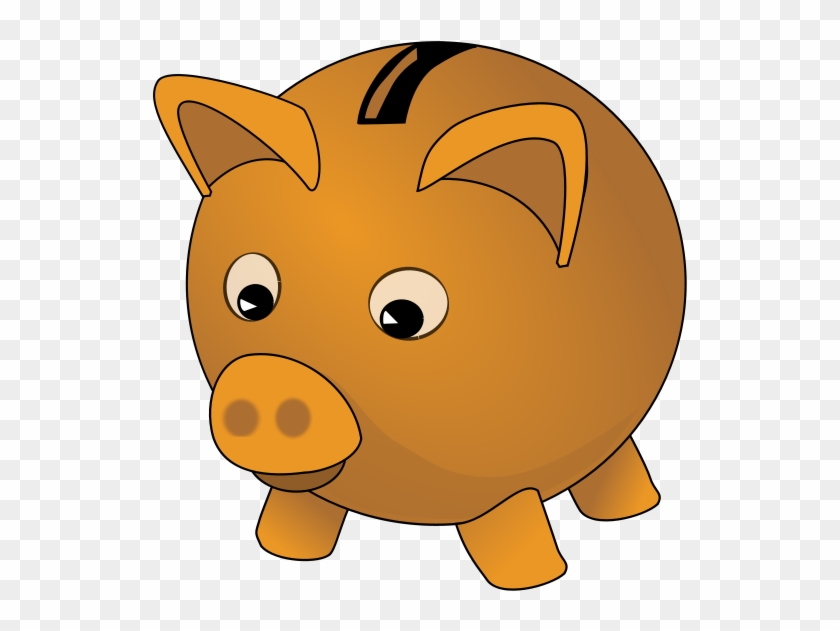 Banking Clipart 8 Bank Free Image - Orange Piggy Bank Clipart #130924