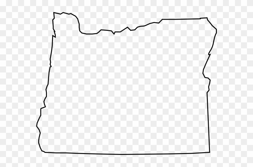 State Of Oregon Clipart - Oregon State Outline Vector #131095