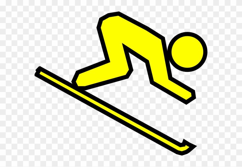 Skier Clip Art - Cartoon Skier #131125