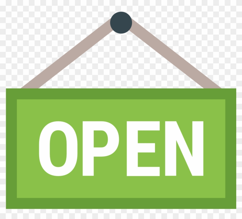 Open Sign Icon - Open Sign Icon #131304