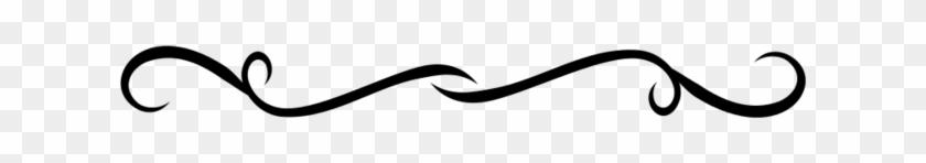 Black Divider No Background Fancy Line Clipart - Brown Swirl No Background #131386