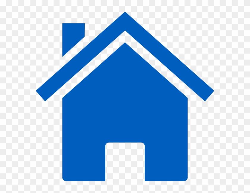 Bulding Clipart Blue - Blue House Clipart Png #131455