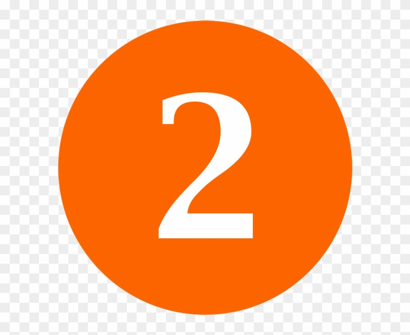 Number Seven Word Clipart - Numbers In Orange Circle #131525