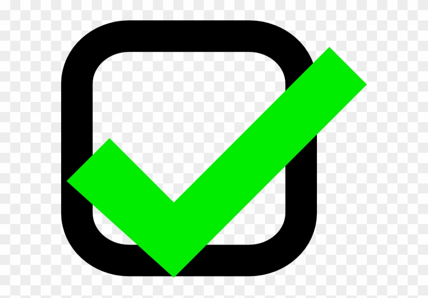 Ok Clipart - Green Tick Box Png #131629