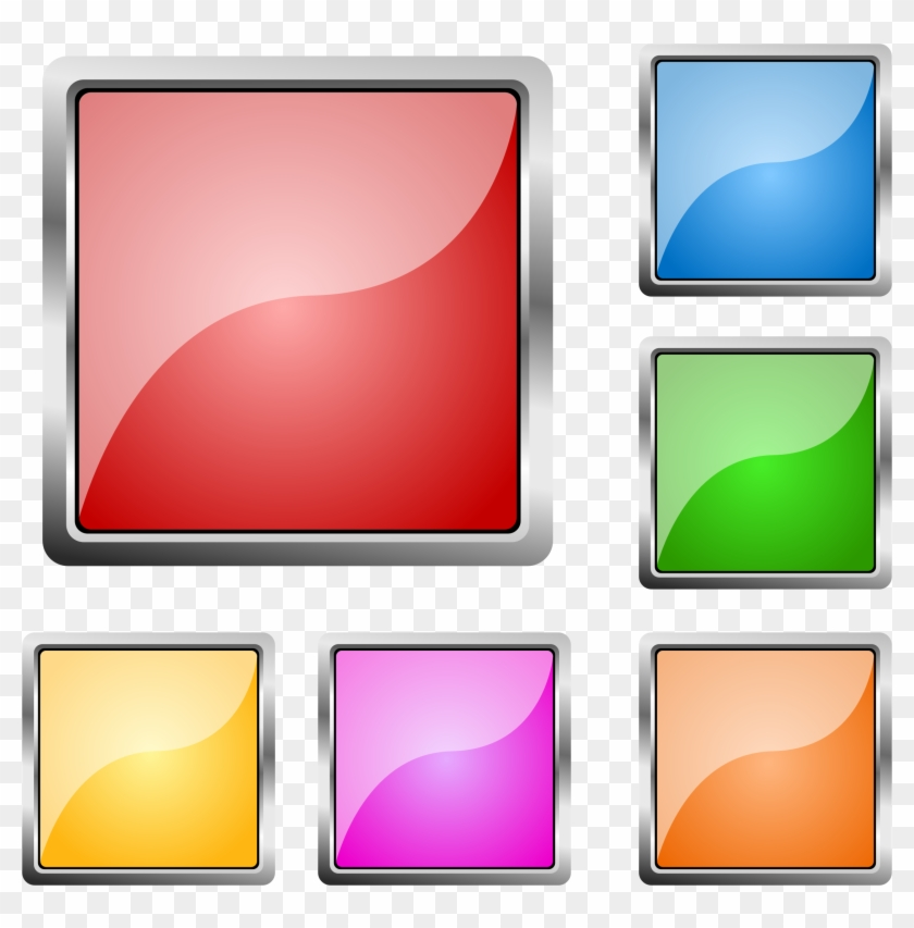 Clipart - Square Buttons Png #131639