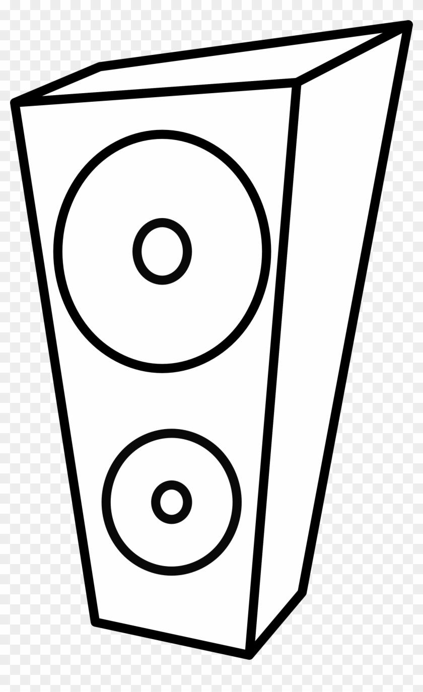 Lemmling Cartoon Speaker 1 Black White Line Art - Loudspeakers Coloring Pages #131815