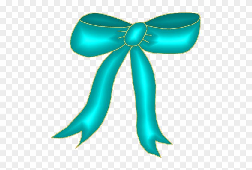 Aqua Bow Clipart - Aqua Bow Clipart #131819