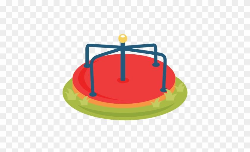 Merry Go Round Svg Scrapbook Cut File Cute Clipart - Merry Go Round Playgroundclip Art #131859