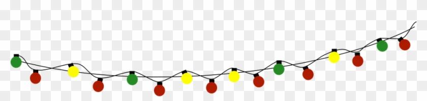 Christmas Bulb String Free Vector Graphic On Pixabay - Christmas String Lights Clipart #131988