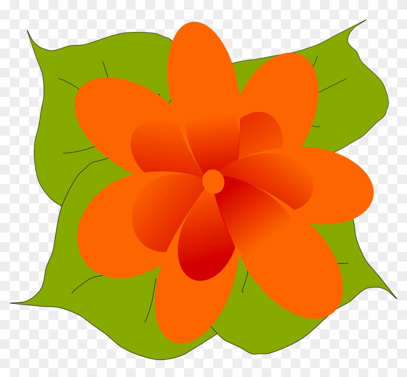 Free Vector Kvetina Clip Art - Leaves And Flowers Clip Art #132093