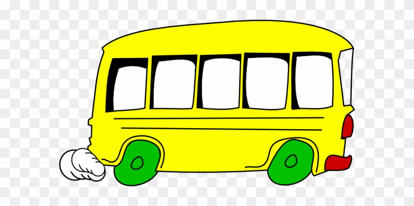 Bus Animated Clipart Cartoon Picture Of A Free Download - Yellow Bus Clipart #132131