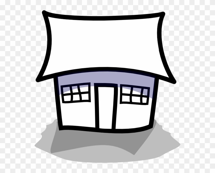 Dog House Outline Clipart - Cartoon House Outline #132144