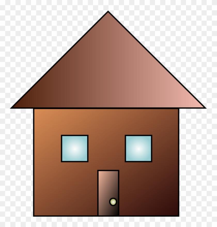 Brown House Clip Art #132167