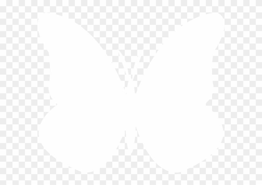 White Butterfly Silhouette Png #132240