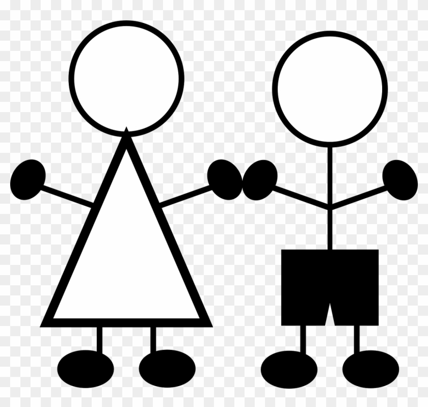 Boy And Girl Stick Figures #132298