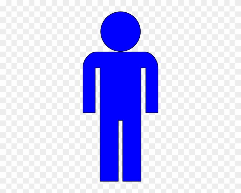 Blue Man Figure Clip Art At Clker - Man Symbol Clip Art #132301