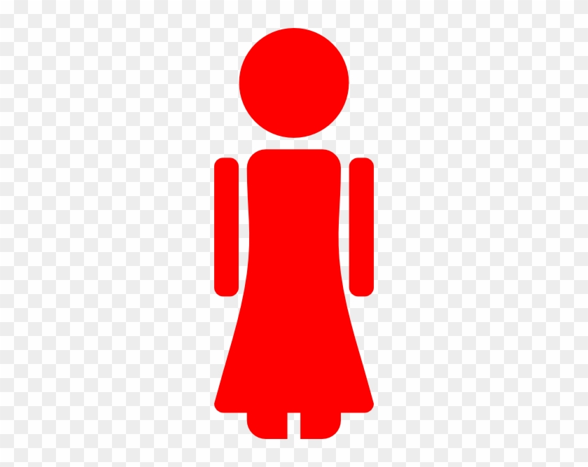 Girl - Clipart - Stick - Figure - Red Girl Stick Figure #132320