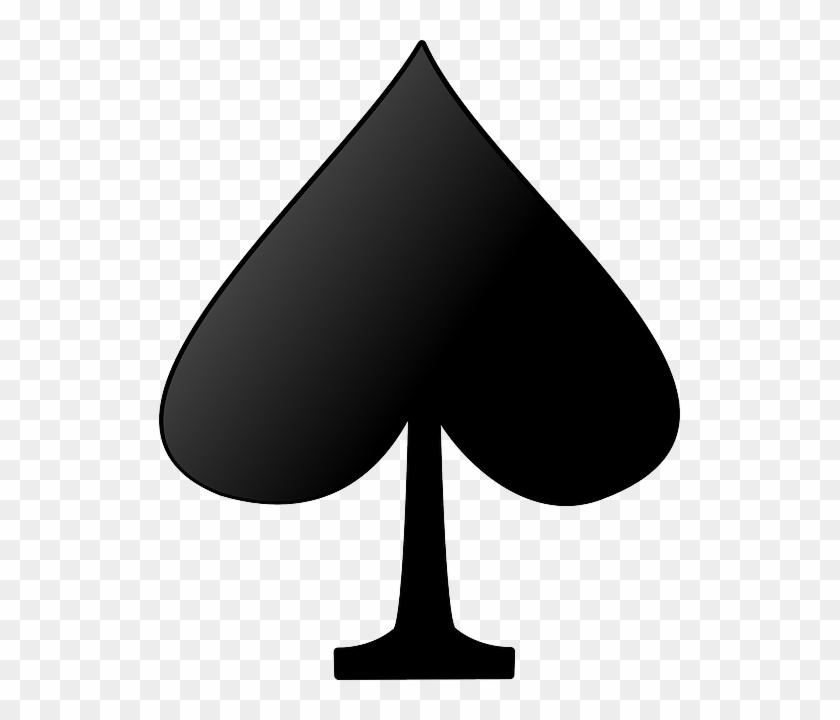 Symbol, Silhouette, Card, Cartoon, Signs - Deck Of Card Spades #132340