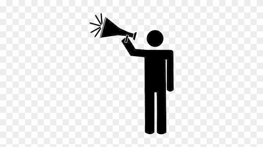 Talking Stick Figure Images Pictures - Stickman With Megaphone #132367