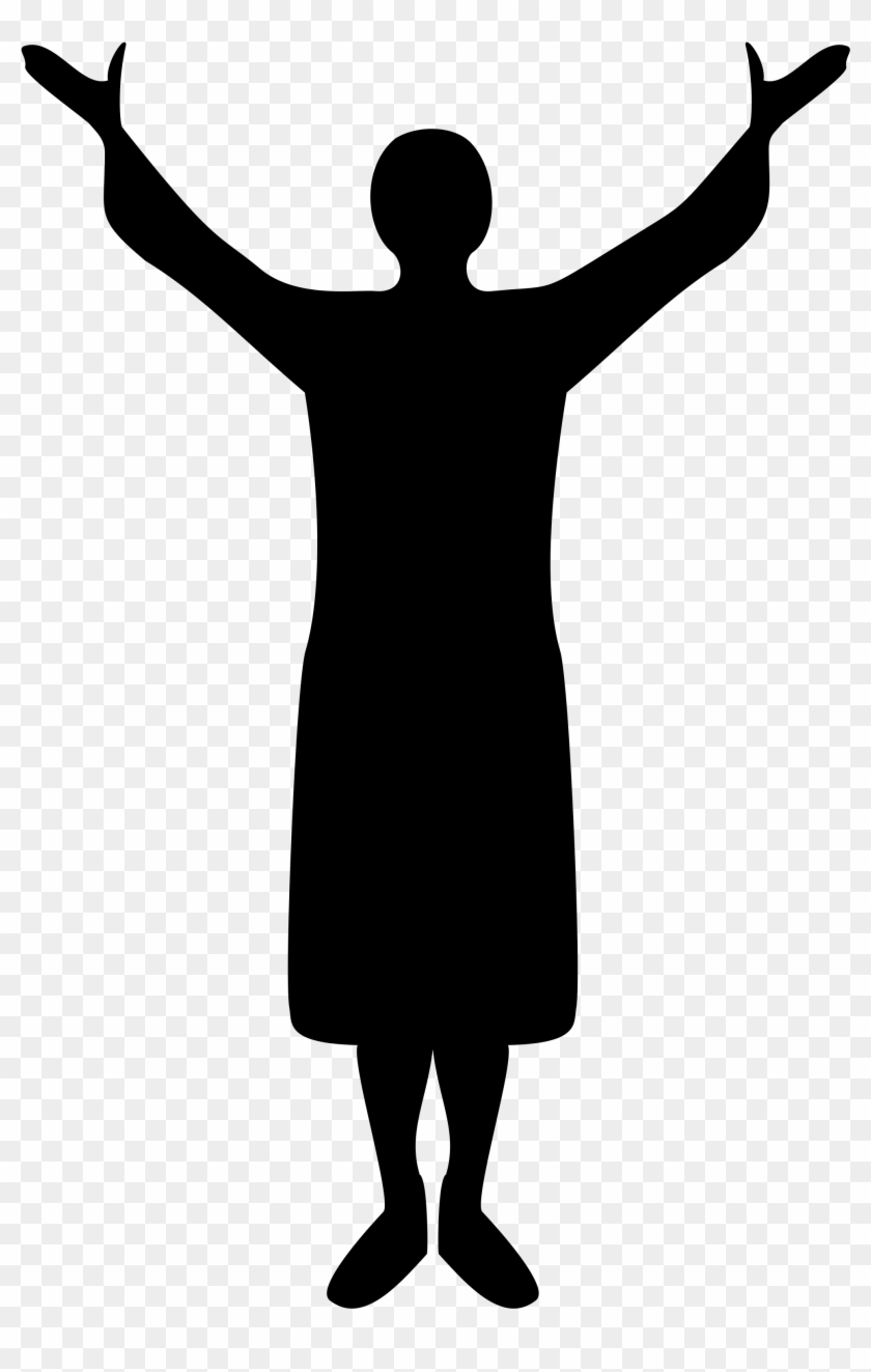 African American Woman Praising God Clipart Traffic Control Icon