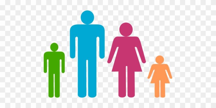 Multi Colored Family Clip Art Public Domain Vectors - Man And Woman Shower Curtain #132501