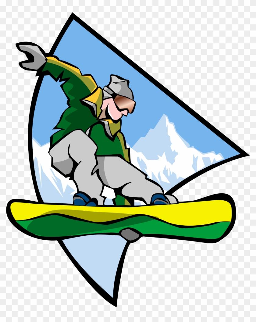 Snowboarding Clipart Microsoft - Snowboarding Man Trucker Hat, White And Black, One #132549