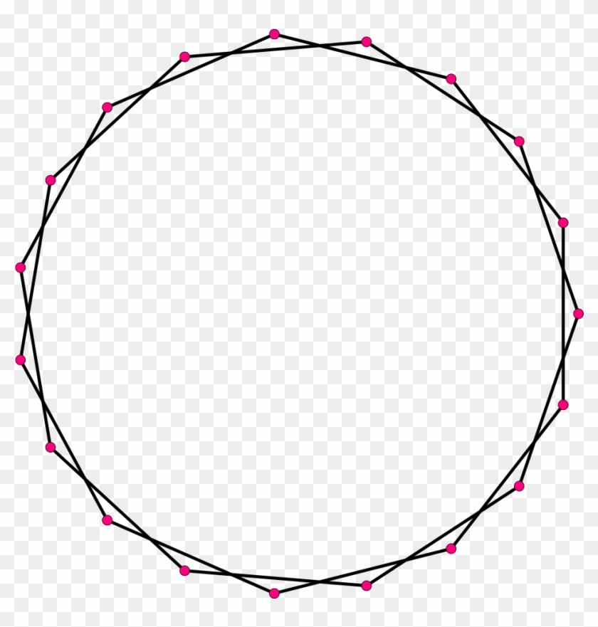 Regular Star Polygon 19-2 - 19 Sided Polygons #133026