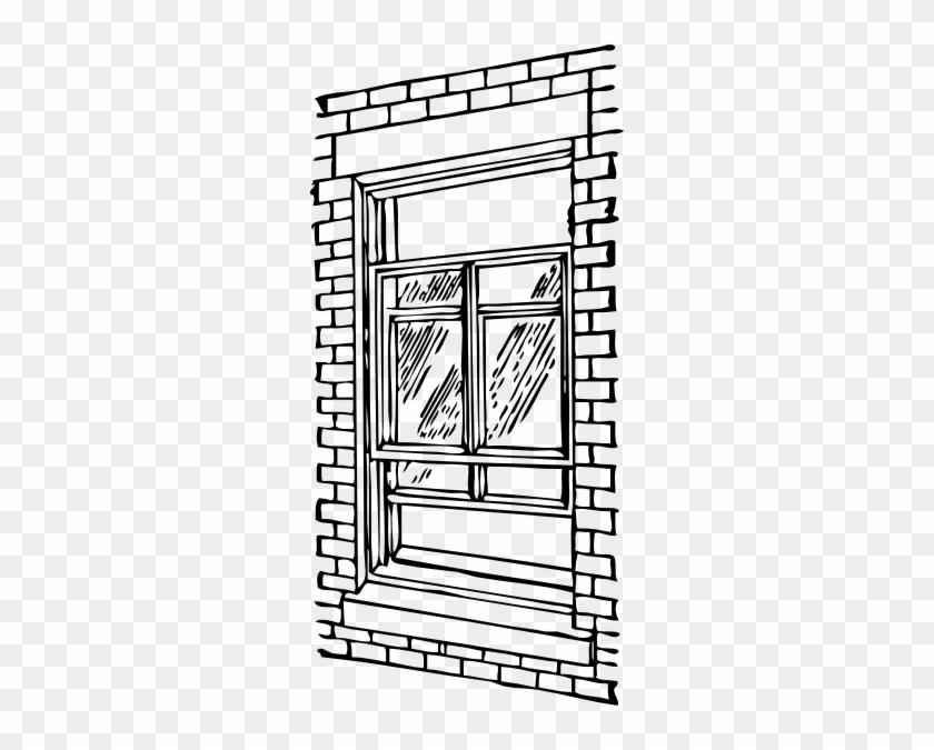 Clip Art Window - Coloring Book Window #133040