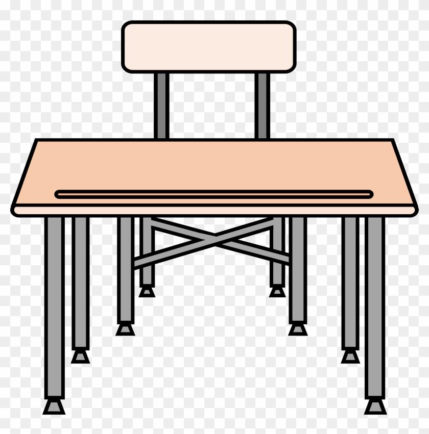 School Desk Clipart - Gambar Meja Sekolah Kartun #133130