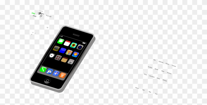 Smart Phone Clipart Smartphone Clip Art At Clker Vector - Clip Art Smart Phone #133196