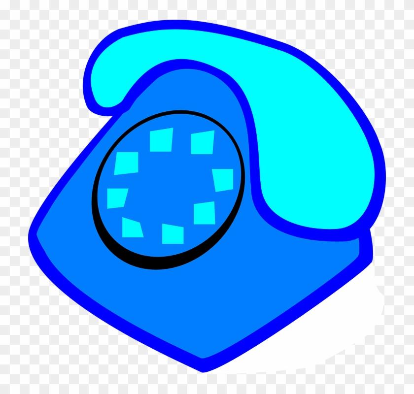 Telephone Clipart Blue Telephone - Blue Telephone Clip Art #133214