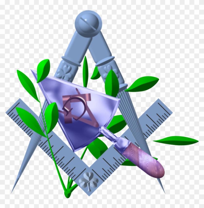 Masonic Trowel Clip Art - Freemasons Square And Compass #133262