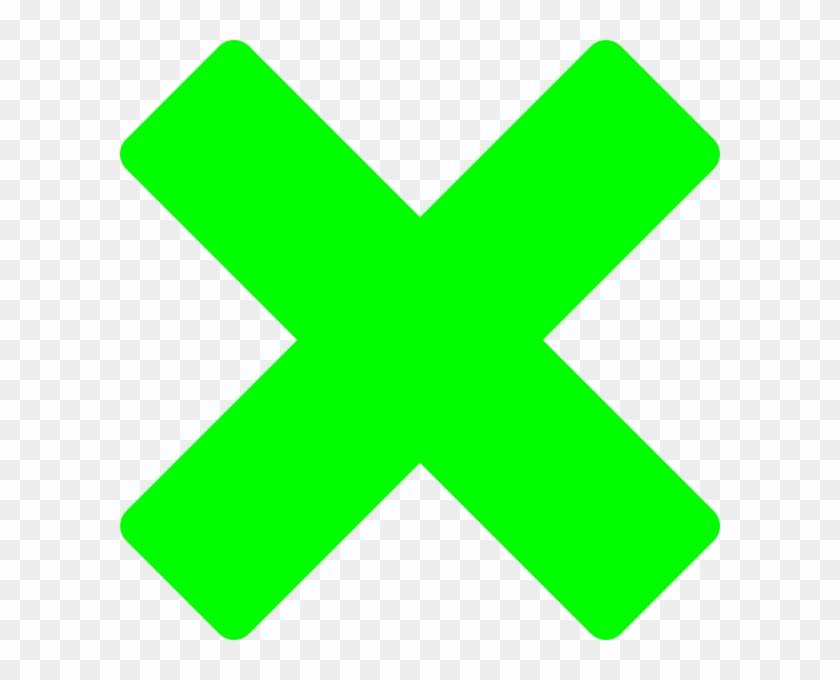 Green X Clip Art - Green X Clip Art #133306