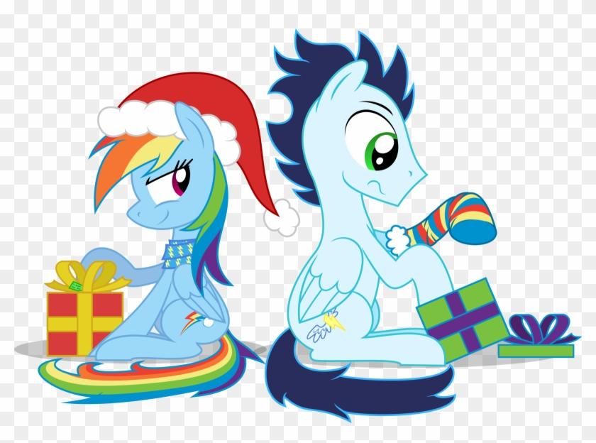 Christmas 2013 By Thunderelemental - Merry Christmas Soarin And Rainbow Dash #133430