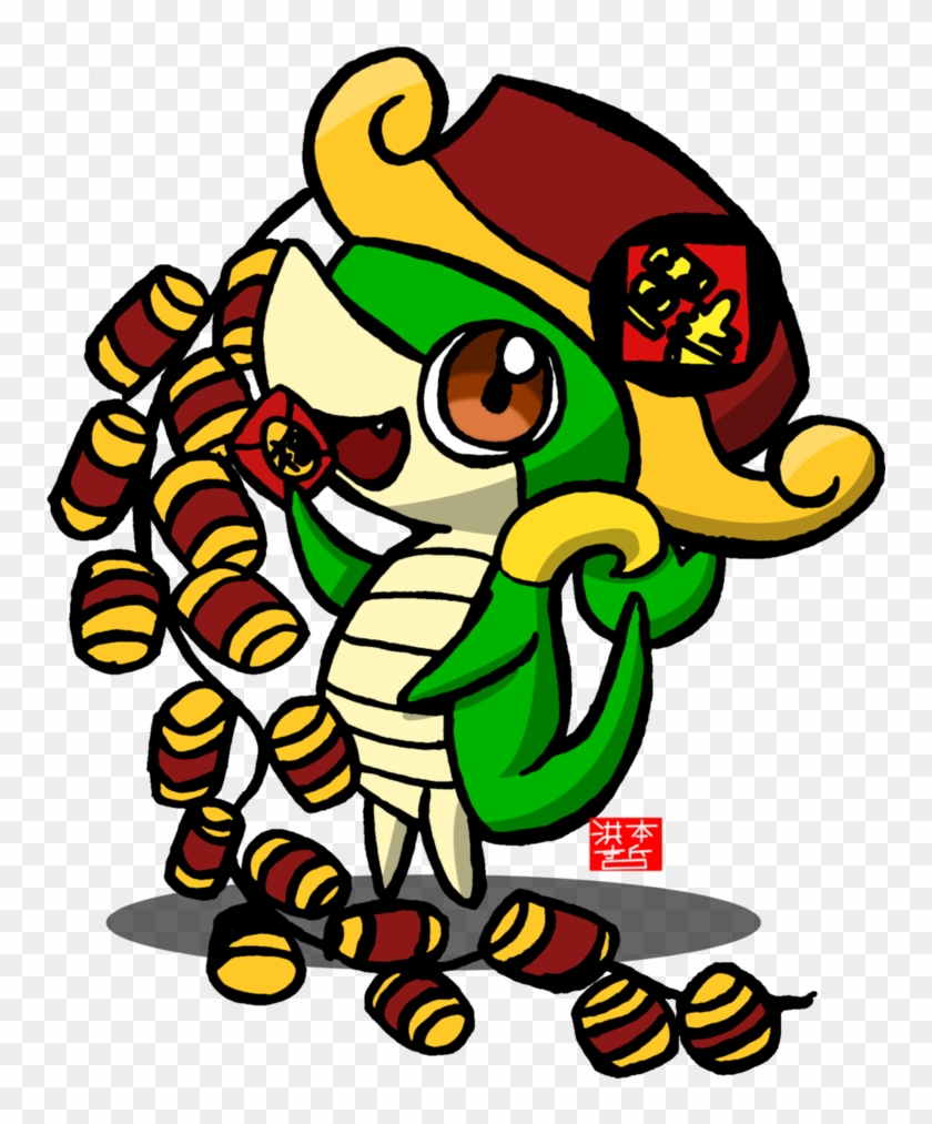 Chinese New Year 2013 Snivy By Ryotsu-san - Chinese New Year #133495