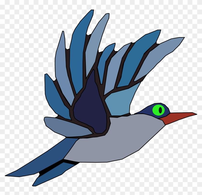 Blue Bird Shower Curtain #133555