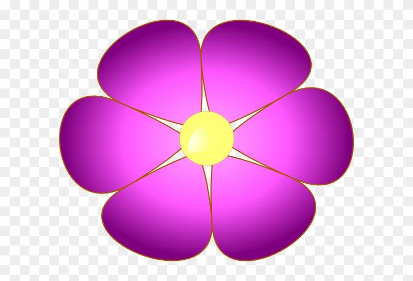 Violet Flower Clip Art At Clker Com Vector Online Clipart - Violet Flowers Clip Art #133844