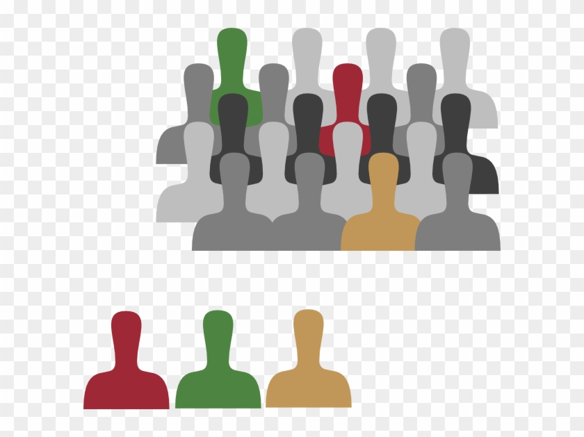 Large Group With Color Clip Art At Clker - Small Group Vs Large Group #134138