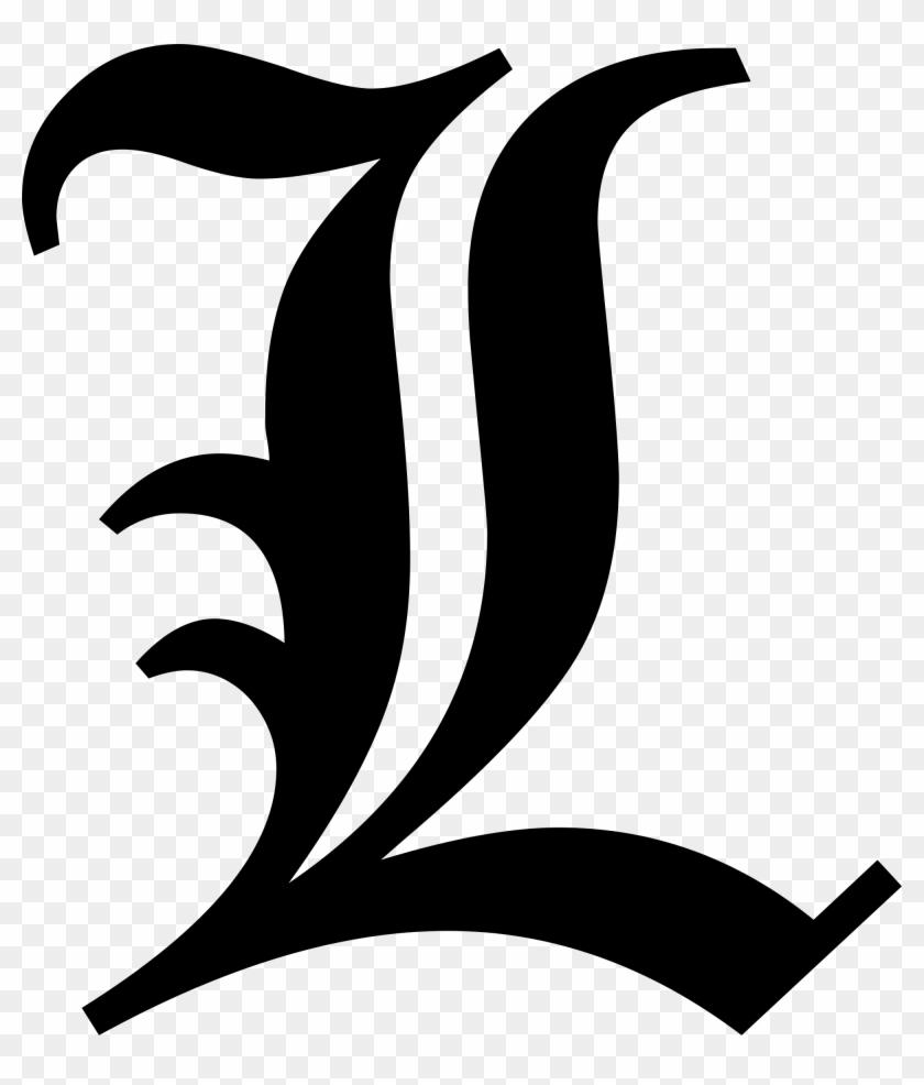Old English Font L #134159