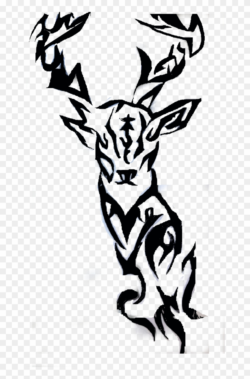 images for tribal deer design tribal deer tattoo designs