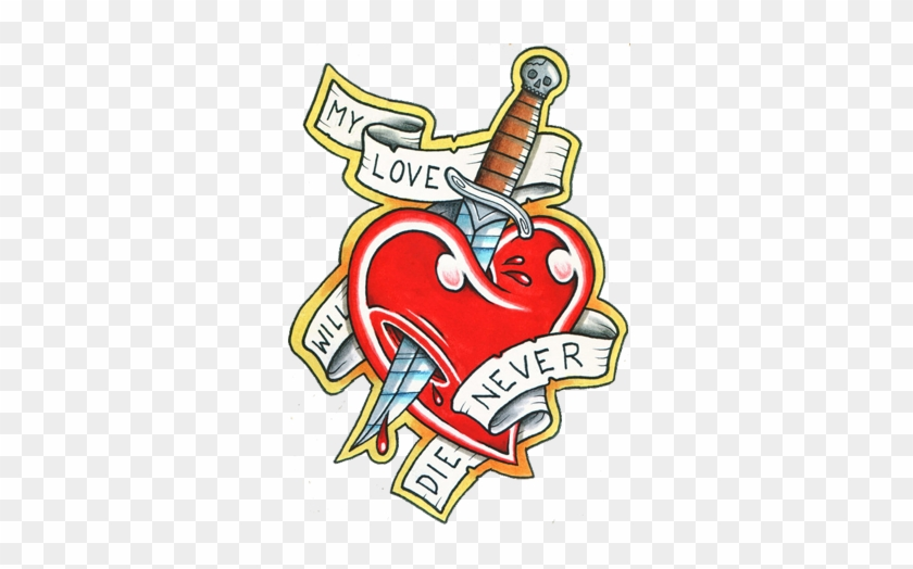 Heart And Love Tattoos Designs- High Quality Photos - Love Tattoo Design Png #134257