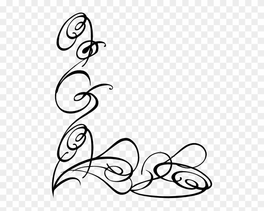 Decorative Swirl Clip Art - Page Borders In Word #134269