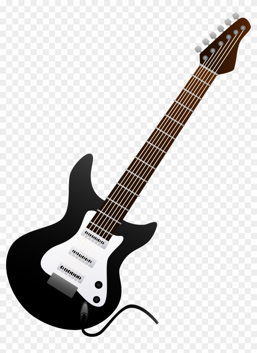 Black Electric Guitar Design Black And White Electric Guitar