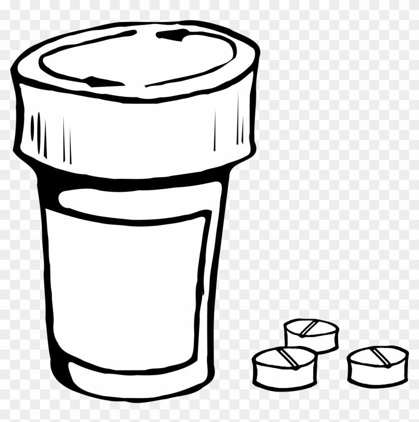 More From My Site - Pill Bottle Line Art #134414