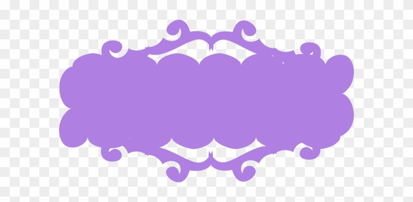 Purple Banner Clip Art At Clker - Pink Ribbon Clipart Png #134583