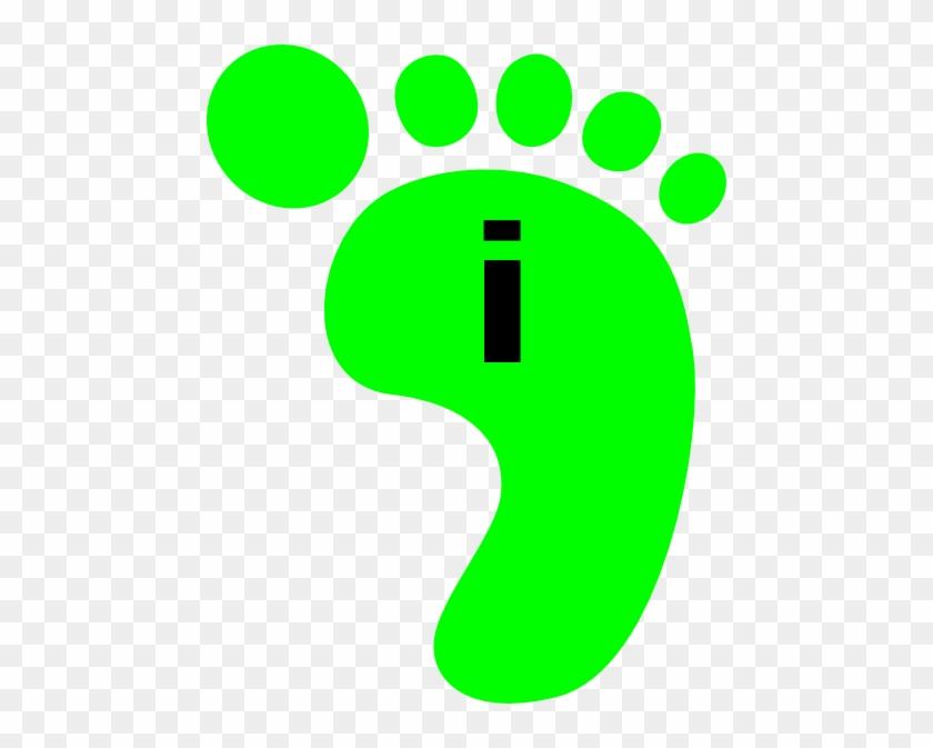Footprint Green Right I Clip Art At Clker - Portable Network Graphics #134721