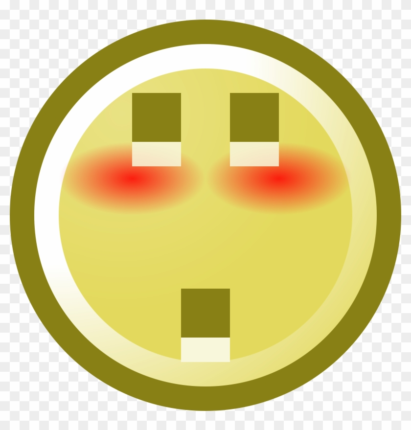 Free Blushing Smiley With Shocked Expression Clip Art - Portrait Of A Man #134747