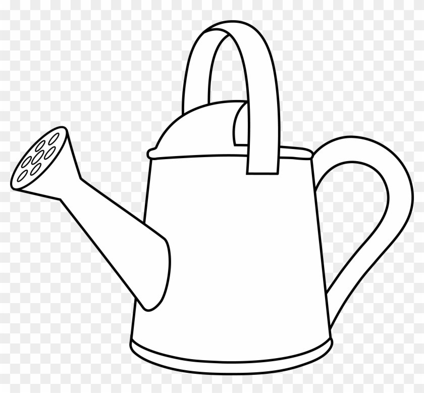 Watering Can Lineart To Color In