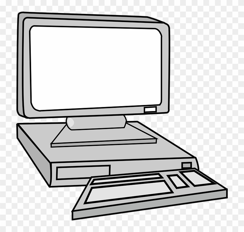 Clipart Black And White Computer #134963